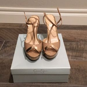 Jessica Simpson Nude Patent Heels